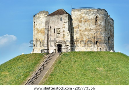 Clifford's Tower in York, England.