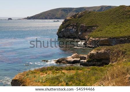 Cliffs along San Luis Bay, Avila Beach, California - stock photo