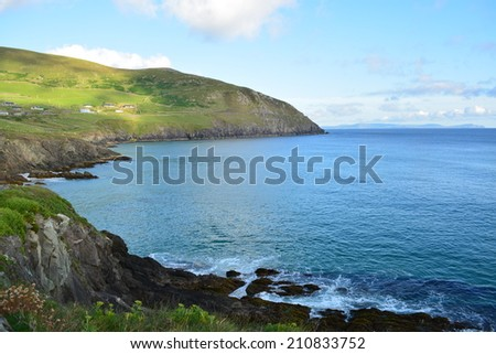 Cliffs in Ireland - stock photo