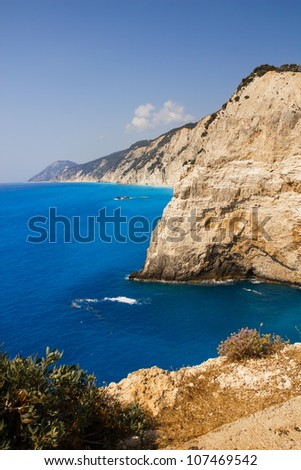Cliffs near Porto Katsiki beach, Lefkada, Greece