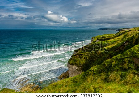 Cliffs near Portrush in Northern Ireland