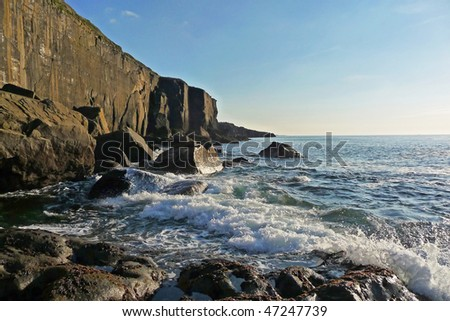 Cliffs of Fanore - stock photo