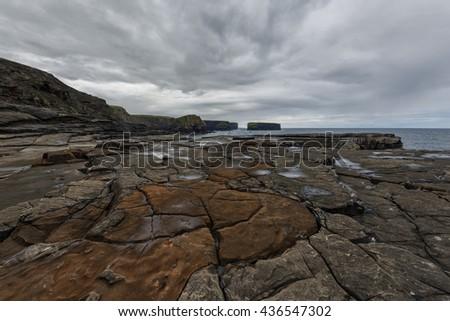 Cliffs of Kilkee - Ireland - stock photo