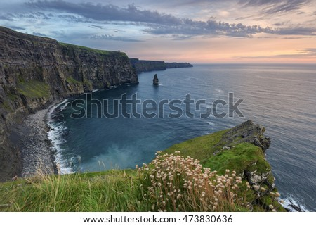 Cliffs of Moher after sunset, Co. Clare, Ireland