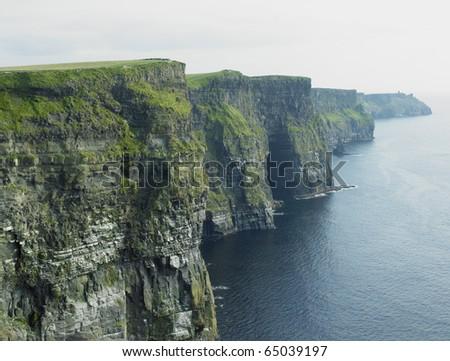 Cliffs of Moher, Burren, County Clare, Ireland - stock photo