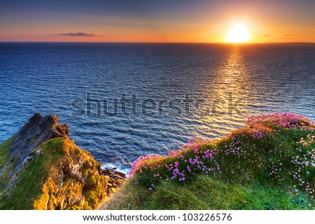 Cliffs of Moher in Co. Clare, Ireland - stock photo