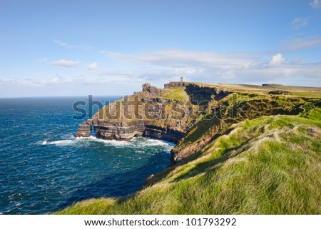Cliffs of Moher in Ireland. - stock photo