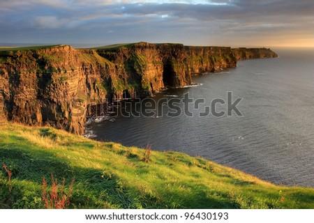 Cliffs of Moher, Ireland - stock photo