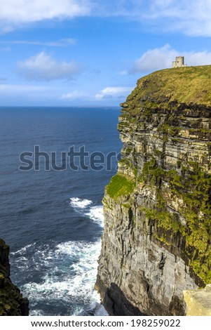 Cliffs of Moher O'Brien's Tower at Ireland