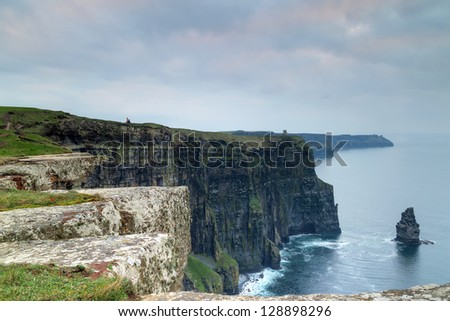 Cliffs of moher seascape from the west ireland
