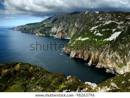 Cliffs of Slieve in County Donegal, Ireland - stock photo