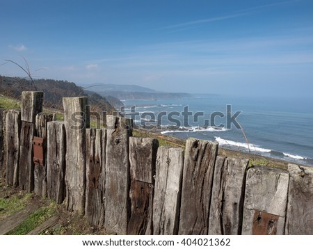 Cliffs on the north coast of Spain, Cantabrian sea