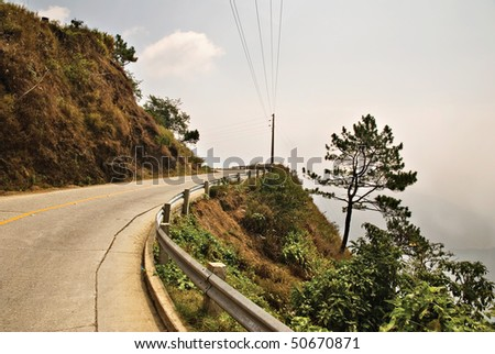 Cliffside Mountain Highway - stock photo