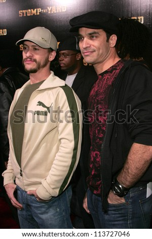 "Clifton Collins Jr. and Johnathon Schaech at the world premiere of ""Stomp The Yard"". The Cinerama Dome, Hollywood, CA. 01-08-07"