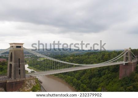 Clifton Suspension Bridge (Bristol) - stock photo