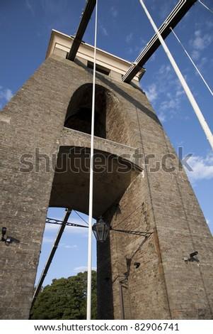 Clifton Suspension Bridge in Brunel in Bristol, England, UK - stock photo