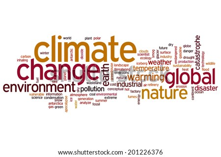 Climate change concept word cloud background - stock photo