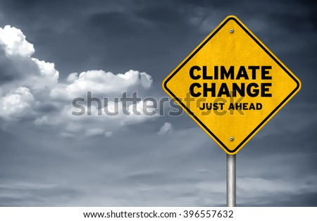 Climate Change just ahead - stock photo