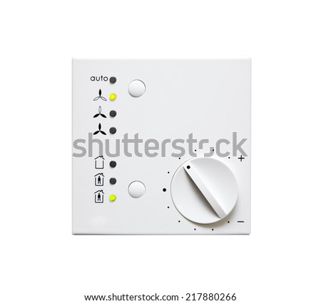 Climate Control Panel - stock photo