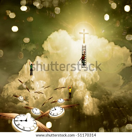 Climb to Enlightenment - stock photo