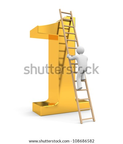 Climb to success - stock photo