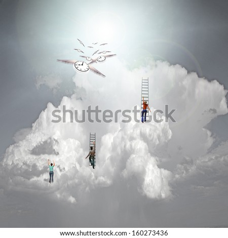 Climb to Success - stock photo