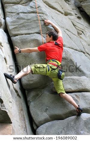 Climber. - stock photo