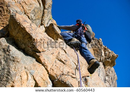 climber on the rocks
