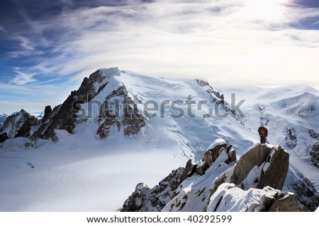 Climbers at Mont Blanc