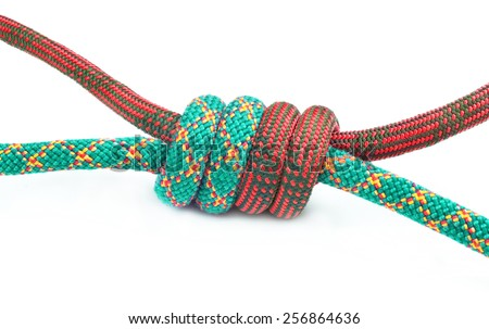 Climbing knot - stock photo