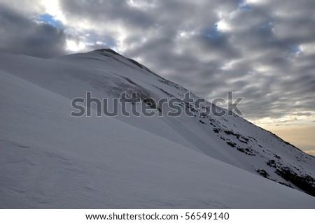 Climbing on Mount Ararat - stock photo