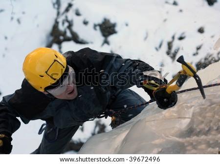 Climbing the North Caucasus. - stock photo