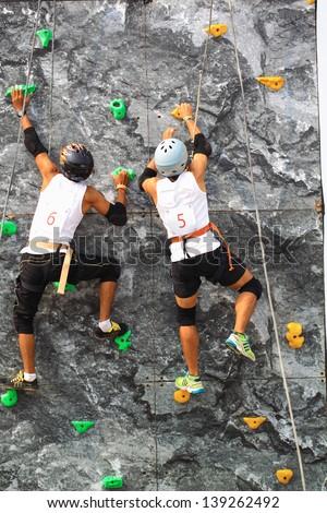 Climbing wall - stock photo