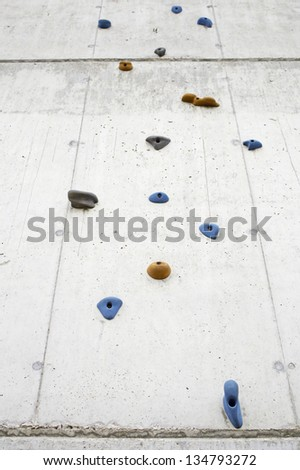 Climbing wall climbing sport outdoor recreation and training - stock photo