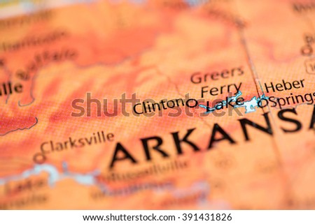 Clinton. Arkansas. USA - stock photo