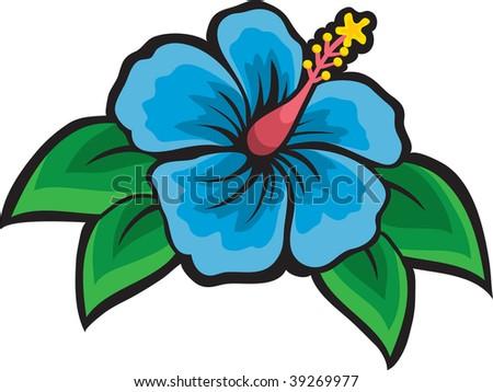 clip art illustration blue hibiscus flower stock illustration rh shutterstock com hibiscus clipart border hibiscus clipart png