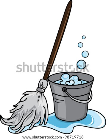 clip art illustration cleaning bucket filled stock illustration rh shutterstock com clip art cleaning person clip art cleaning closet