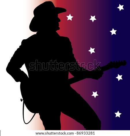 Clip Art Illustration Country Music Guitar Stock ...