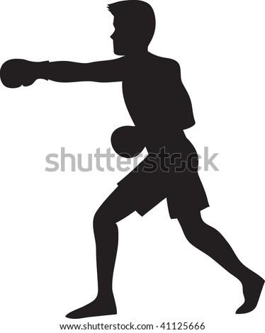 clip art illustration silhouette boxer stock illustration 41125666 rh shutterstock com boxer gloves clipart boxer rebellion clipart