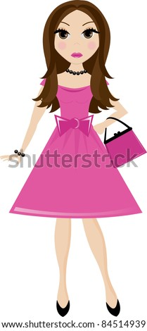 Clip Art Girls Party Dress