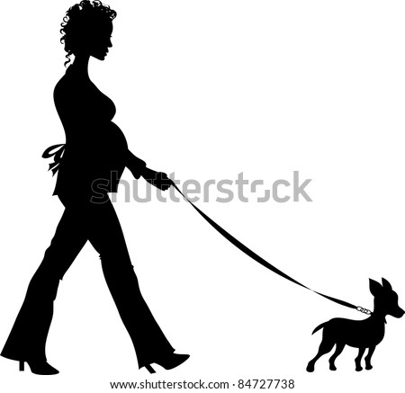 Clip Art Illustration Silhouette Youthful Pregnant Stock ...