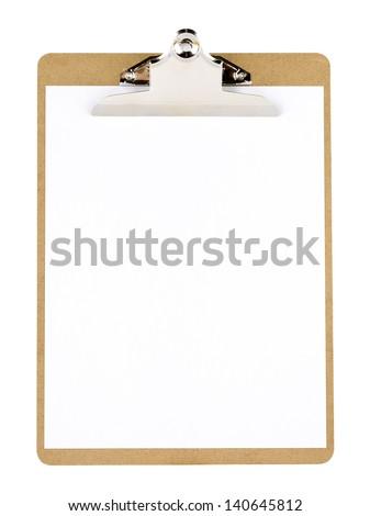 Clip board and paper - stock photo