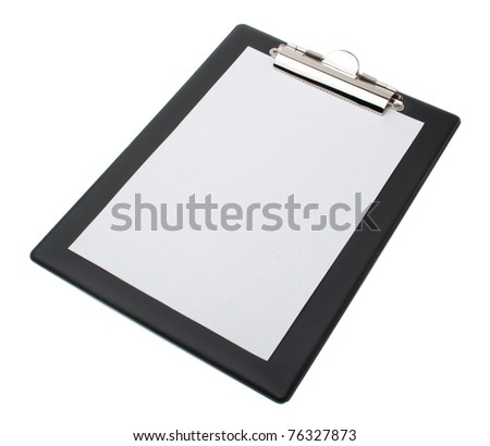 Clip board and papers - stock photo