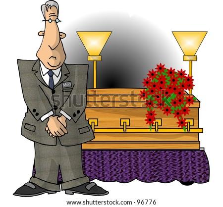 clipart illustration mortician coffin stock illustration 96776