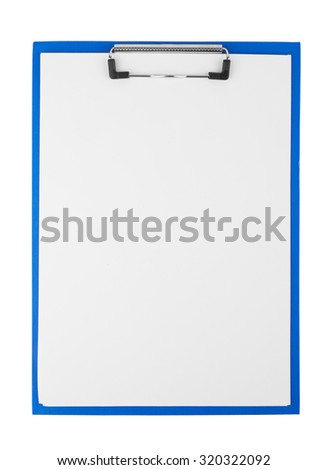 Clipboard blank isolated on white background - stock photo