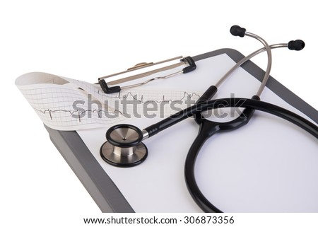Clipboard chart for health results and records - stock photo