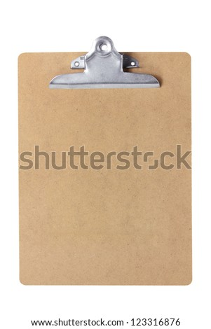 Clipboard on White Background - stock photo
