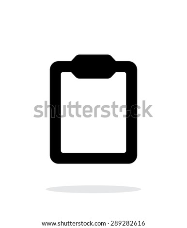 Clipboard simple icon on white background.