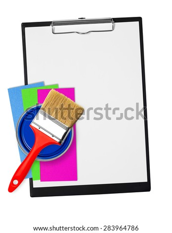 Clipboard with painting tools
