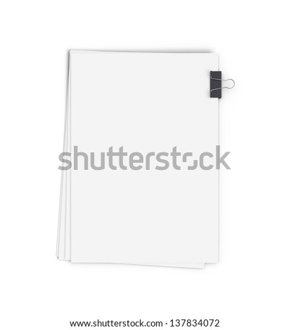 clipped paper on a white background - stock photo